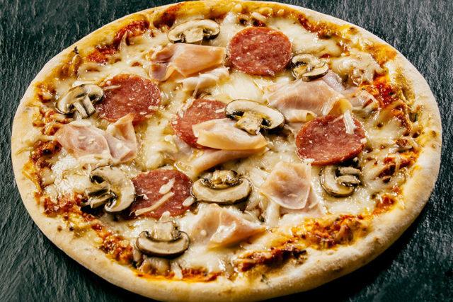 recette Pizza aux champignons
